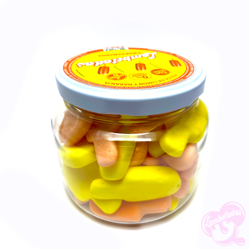 sin gluten, sin lactosa, sin grasas trans Riberia sacra sweet - candy polos limón naranja