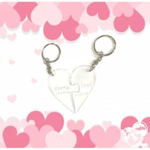 Llavero Corazón puzzle personalizado