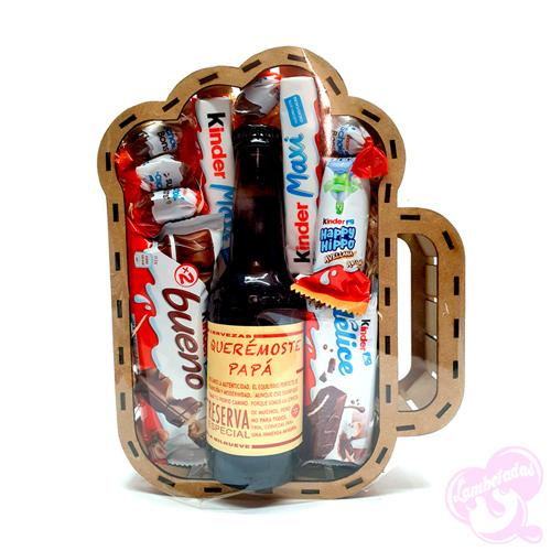 Caja 3D, Caja personalizada, Regalo día del padre, Regalo original, Botella personalizada, Cerveza, Estrella Galicia, 1906, Kinder