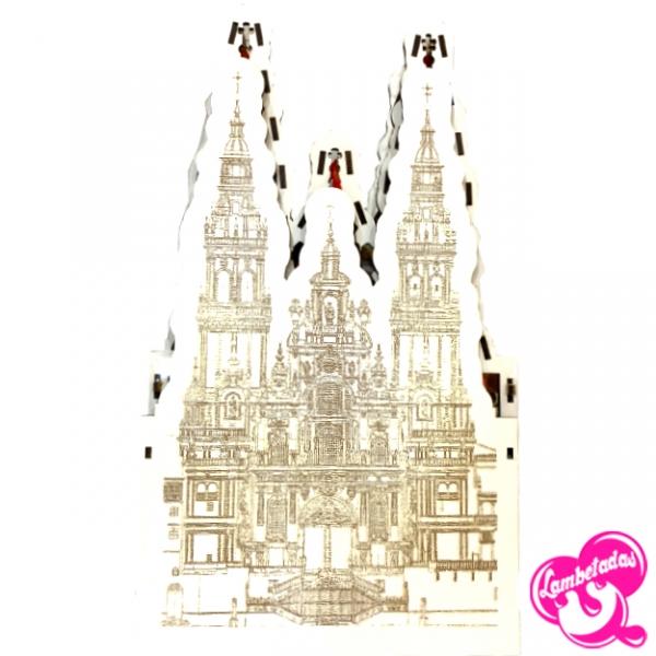 Caja 3D personalizada, Regalo Original, Regalo Dulce, Santiago de compostela, Camino de santiago, Compostela, Catedral Santiago de Compostela