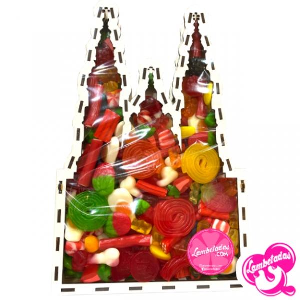 Caja 3D personalizada, Regalo Original, Regalo Dulce, Santiago de compostela, Camino de santiago, Compostela, Catedral Santiago de Compostela, Gominolas
