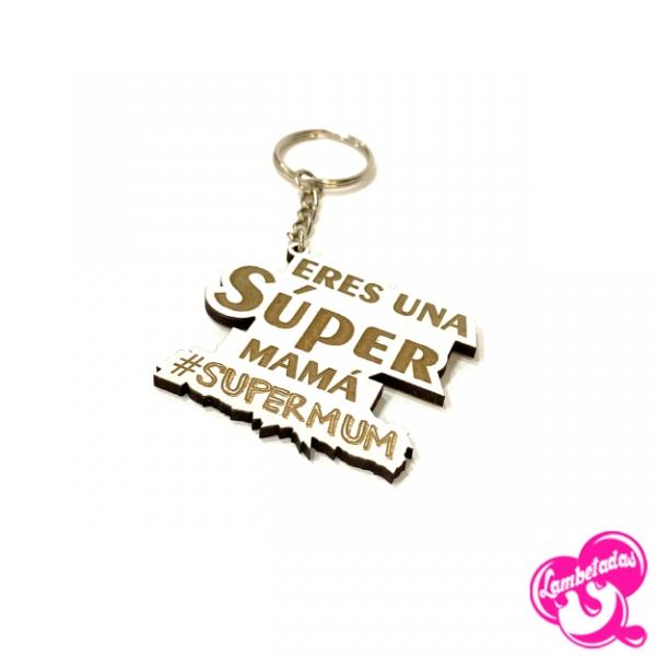Día de la madre, Regalo original día de la madre, Llavero letras mamá, Llavero Súper mamá, #SUPERMUM