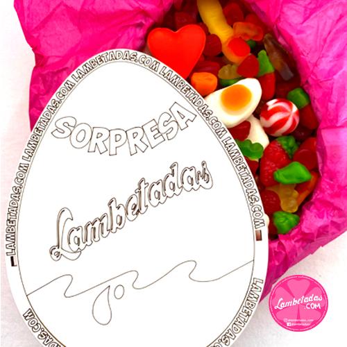 CAJA SORPRESA 3D MINI, Sorpresa, Kinder sorpresa, Caja sorpresa, Cajita dulce, Caja dulce, Gominolas cajita