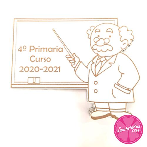 Regalo Profe, Regalo Profesor, Regalo original, Profe, Profesor, Alumno, Caja 3D, Caja Dulce, Kinder, Gominolas